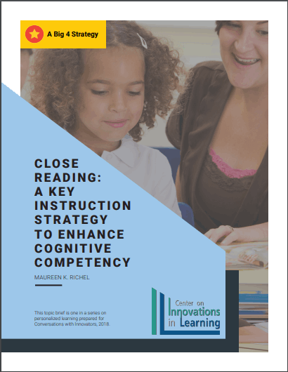 Close Reading- A Big 4 Strategy